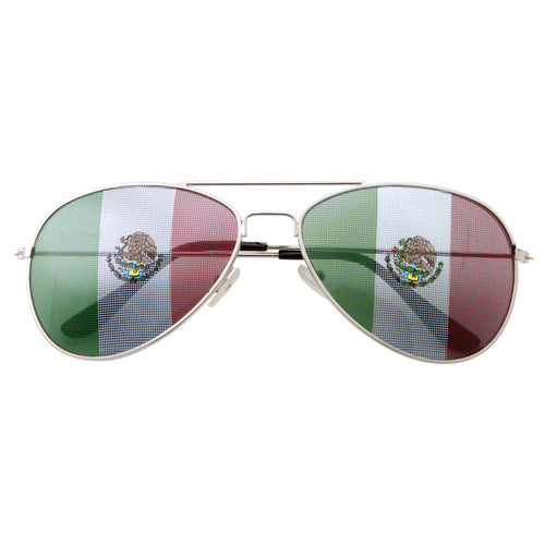 Mexican Flag Soccer Football Novelty Sunglasses