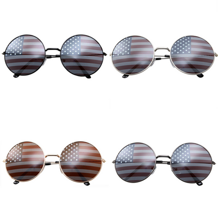 Vintage Inspired Large Round Circle Clear Lens Sunglasses Retro Fashion Geek