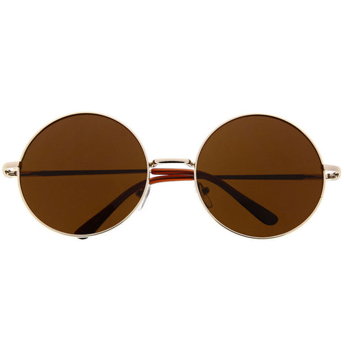Women's Designer Inspired Large Oversized Round Circle Sunglasses Metal Modern - grinderPUNCH