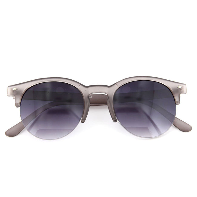 Vintage Cat Eye Round Half Frame Sunglasses - grinderPUNCH