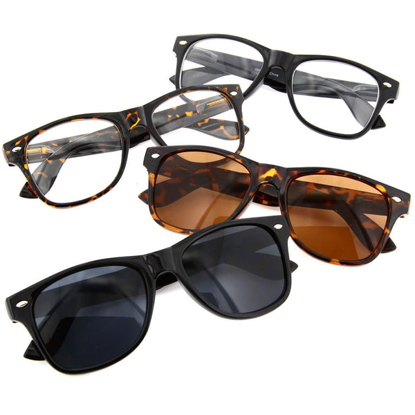 Classic Nerd Fashion Sunglasses - Super Vintage Pack - grinderPUNCH