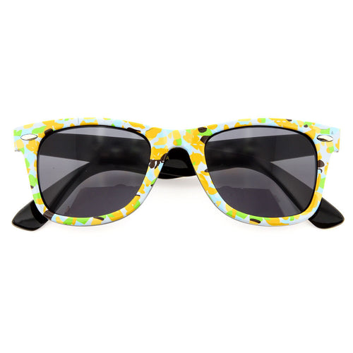 Retro Flower Prism Pattern Cute Sunglasses - grinderPUNCH