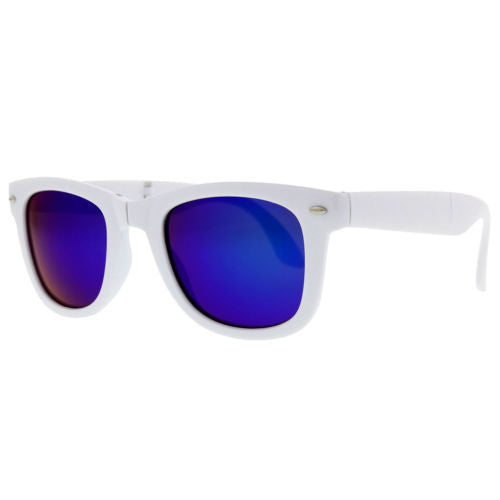 Summer Mirrored Folding Portable Sunglasses - grinderPUNCH