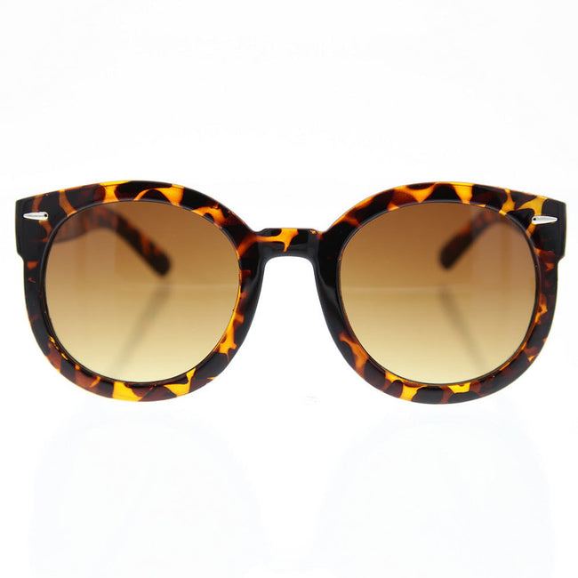 Women's Oversized Round Sunglasses Retro Style with Metal Rivets - grinderPUNCH