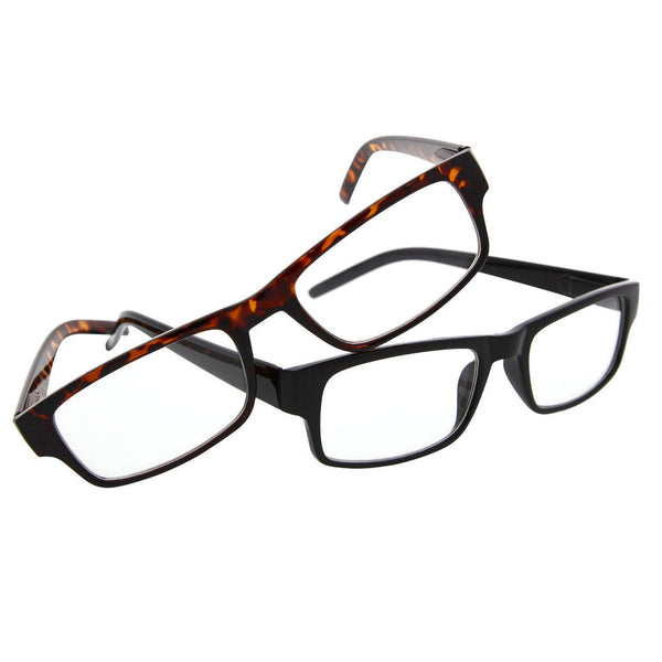 Euro Modern Flat Thin Clear Lens Fashion Glasses Sunglasses Square Rectangle