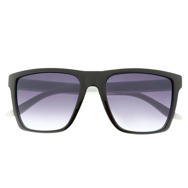 Men's Two Tone Flat Top Square Sunglasses - grinderPUNCH