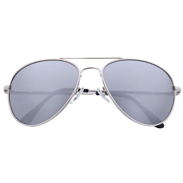 Premium Classic Silver Mirrored Aviator Sunglasses - grinderPUNCH
