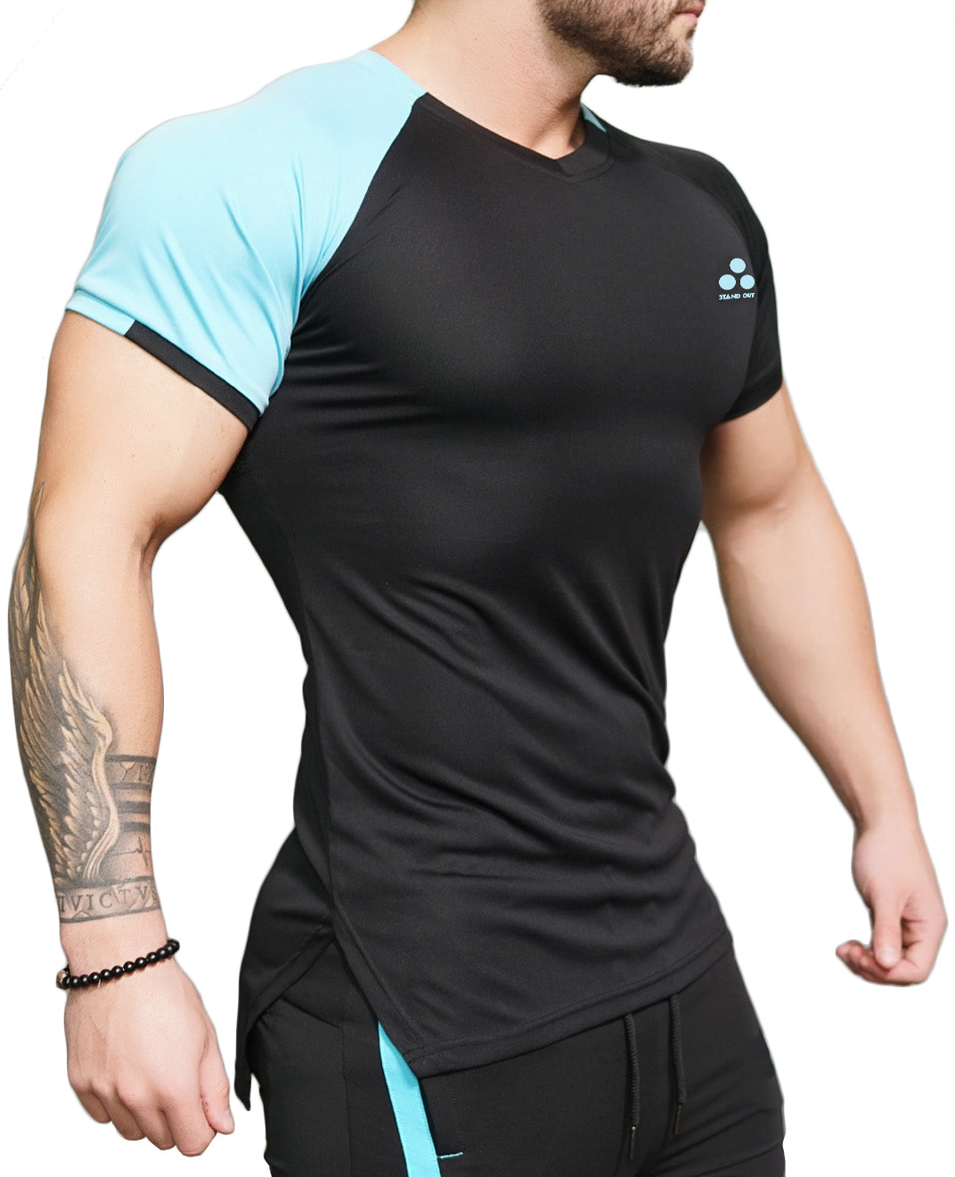 STAND OUT - Mesh back | Athleisure | Performance wear | Gym T-Shirt