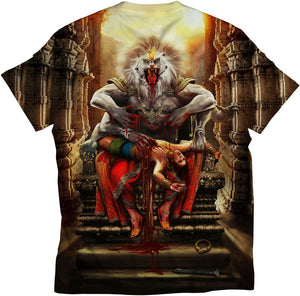 df9ac206 standout lord krishna all over print blue color unisex tshirt iskcon isha  lord shiva tshirts osom