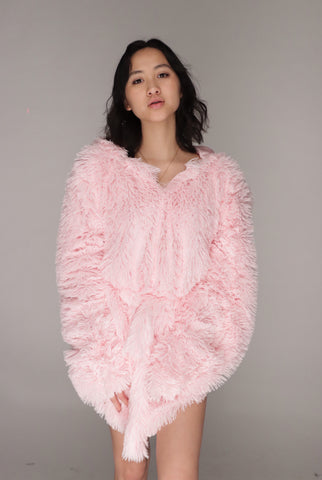 ANGEL HOODIE in Chill Pink
