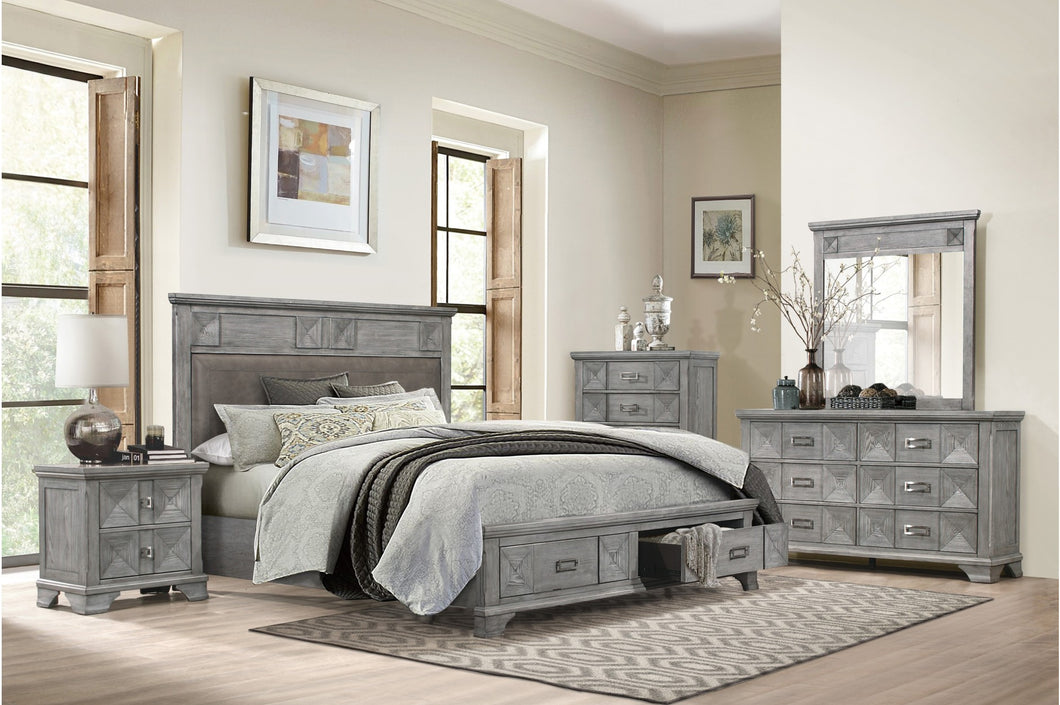 4PCS QUEEN BEDROOM SET #1516HM