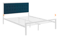 Load image into Gallery viewer, KING BED FRAME MOD-5456-WHI-AZU