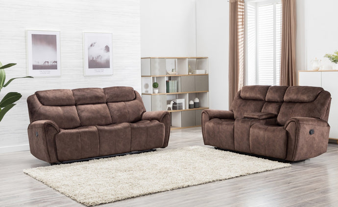 2PCS BROWN SOFA AND LOVESEAT #5008GU