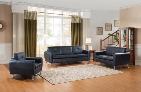 LOVESEAT 8002-BLK-2