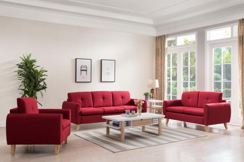 LOVESEAT RED 8002F-RED-2
