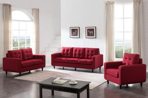 LOVESEAT 8013F-RED-2