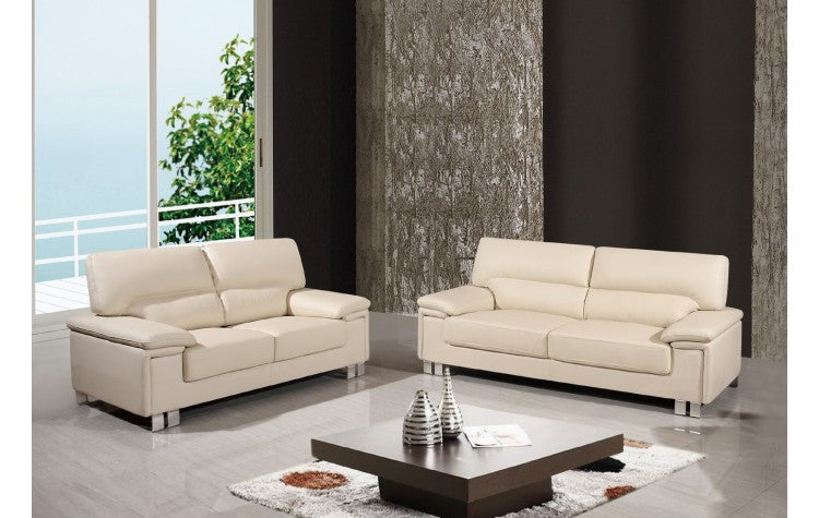 2 PCS BEIGE SOFA AND LOVESEAT #9399GU