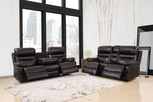 2PCS BROWN SOFA AND LOVESEAT #9442GU