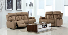 Load image into Gallery viewer, 2PCS RECLINER BEIGE SOFA AND LOVESEAT #9760GU