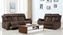 Load image into Gallery viewer, 2PCS BROWN RECLINER SOFA AND LOVESEAT #9760