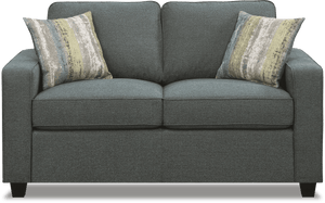 Brownswood Transitional Loveseat with Track Arms