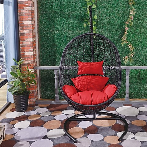 Swing Chair Black F08Art