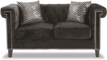 Load image into Gallery viewer, Reventlow Loveseat with Greek Key Nailhead Trim Design