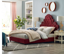 Load image into Gallery viewer, QUEEN BED FRAME MOD-5808-NAV