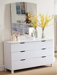 6 DRAWERS DRESSER 1104 **mirror not available*