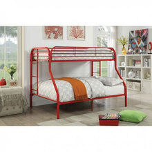 Load image into Gallery viewer, FOA TWIN/FULL BUNK BED CM-BK931RD-TF