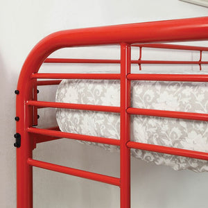 FOA TWIN/FULL BUNK BED CM-BK931RD-TF