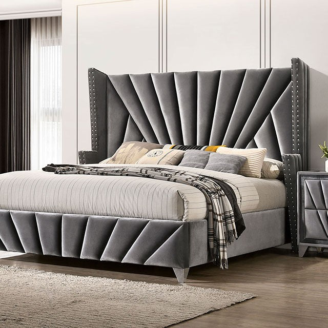 4 PCS QUEEN BEDROOM SET 7164Q-FOA