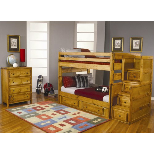 460096 Full Over Full Bunk Bedroom Group cst