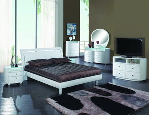 4PCS QUEEN WHITE BEDROOM SET #COSMO GU