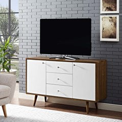 Transmit Sideboard in Walnut White Code: EEI-2531-WAL-WHI-SET