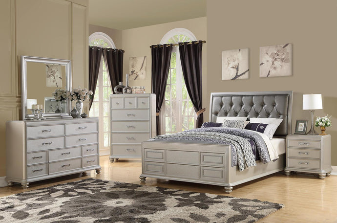 4PCS QUEEN  BEDROOM SET F9357Q-POU