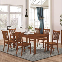 Load image into Gallery viewer, Marbrisa Mission Style 7 Piece Dining Set