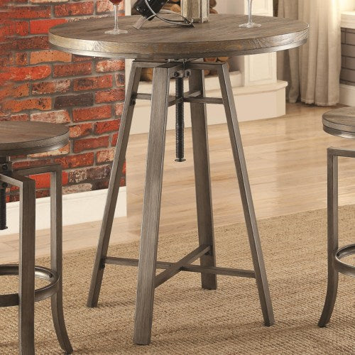 10181 Industrial Bar Table with Swivel Adjustable Height Mechanism