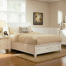 Load image into Gallery viewer, Sandy Beach California King Sleigh Bed with Footboard Storage