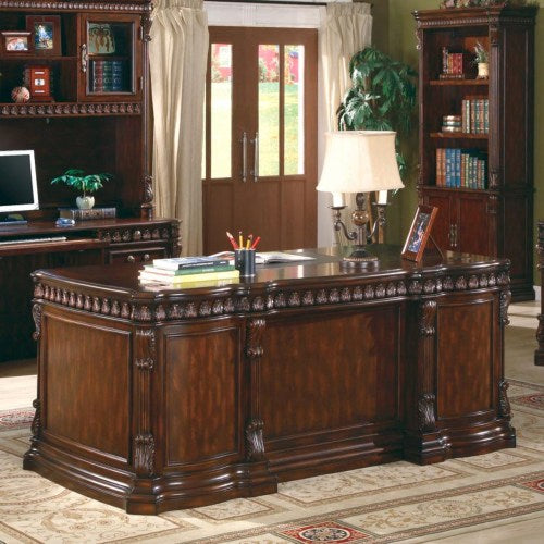 Tucker Double Pedestal Desk with Leather Insert Top