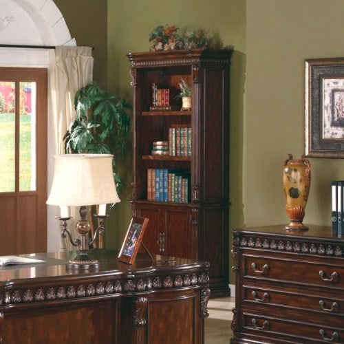 Tucker Open Bookcase with Storage Base