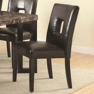 Abigail  Contemporary Dining Side Chair with Upholstered Seat and Back