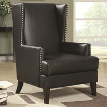 Load image into Gallery viewer, Accent Seating Wing Back Accent Chair in Transitional Furniture Style with Nail Head Trim
