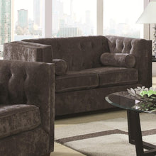 Load image into Gallery viewer, Alexis CH Transitional Chesterfield Stationary Loveseat with Track Arms