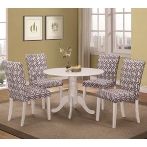 Allston Round Pedestal 5 Pc Table & Chair Set