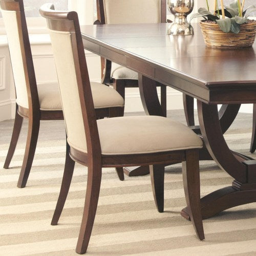 Alyssa Dining Side Chair with Flared Feet and Upholstered Seat