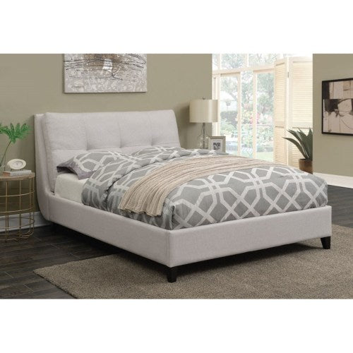 Amador Upholstered Queen Platform Bed With Button Tufted Pillow Top