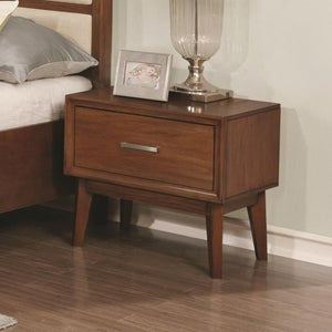 Banning 1 Drawer Nightstand with Wire Cord Access