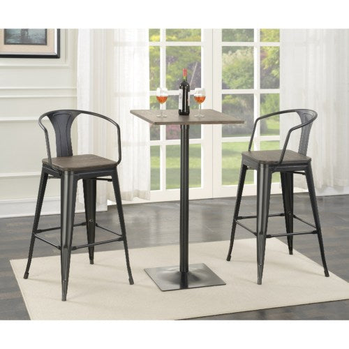 Industrial Bar Table and Stool 3 PCS Set-COA