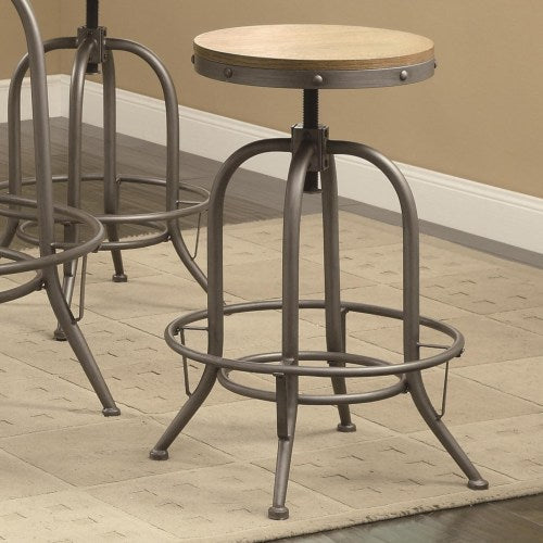 Bar Units and Bar Tables Transitional Adjustable Bar Stool